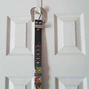 Multicolored jeweled belt